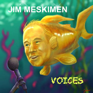 Jim Meskimen with fish body and microphone making voices